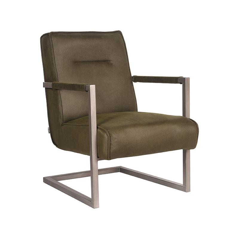 Fauteuil Jim - Army green - Microfiber