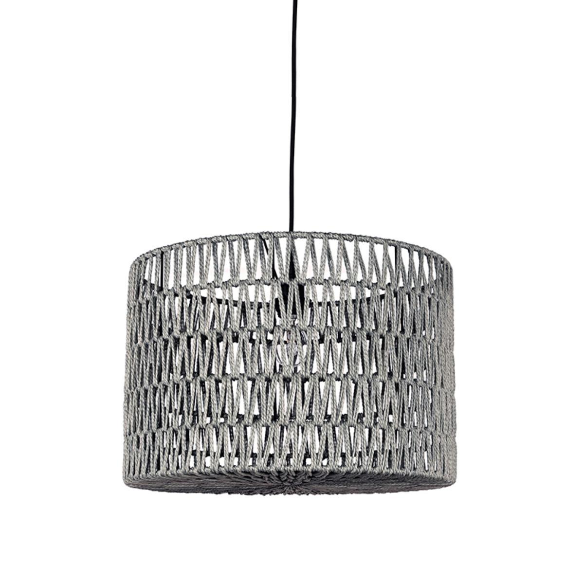 Hanglamp Stripe - Grijs - Katoen