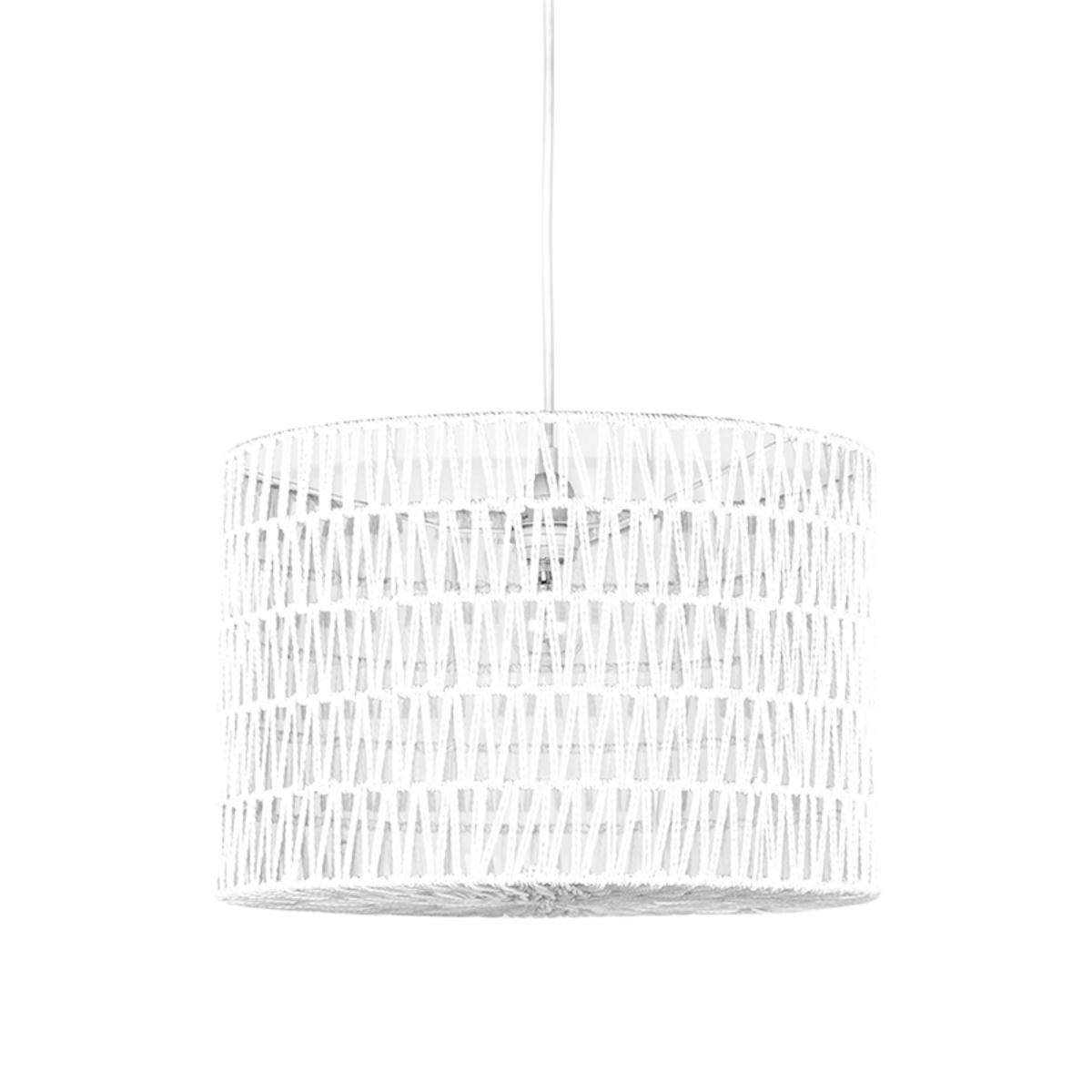 Hanglamp Stripe - Wit - Katoen