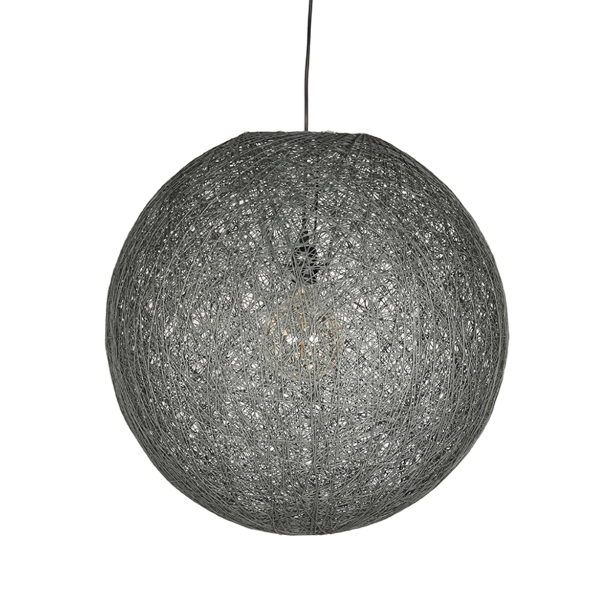 Hanglamp Twist - Grijs - Vlas - 55 cm
