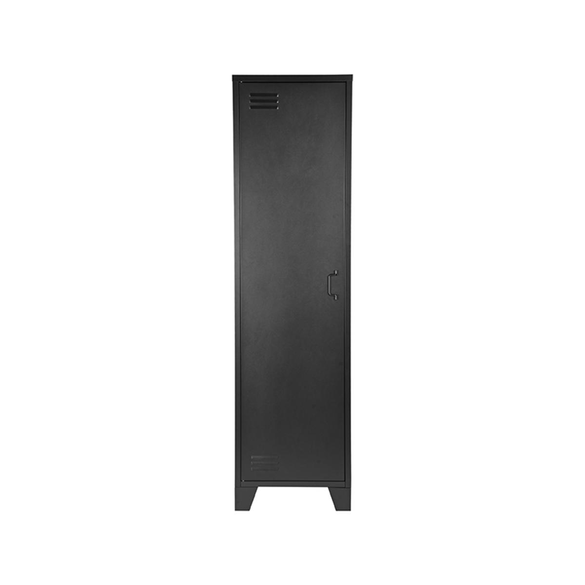 Bergkast Fence - Zwart - Metaal - 1 Deurs