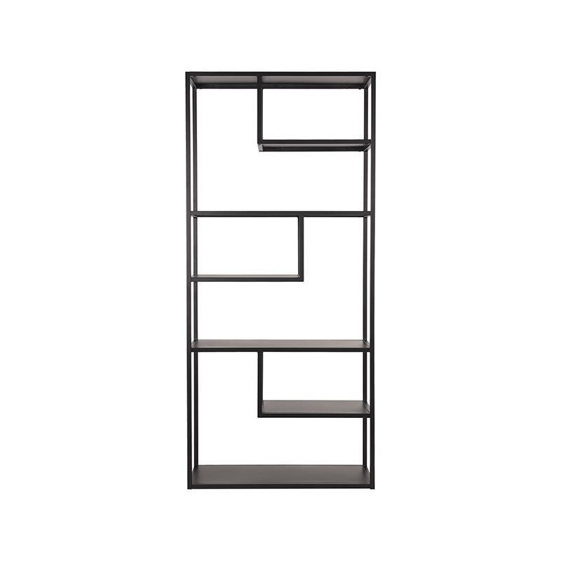Boekkast Loft - Zwart - Metaal