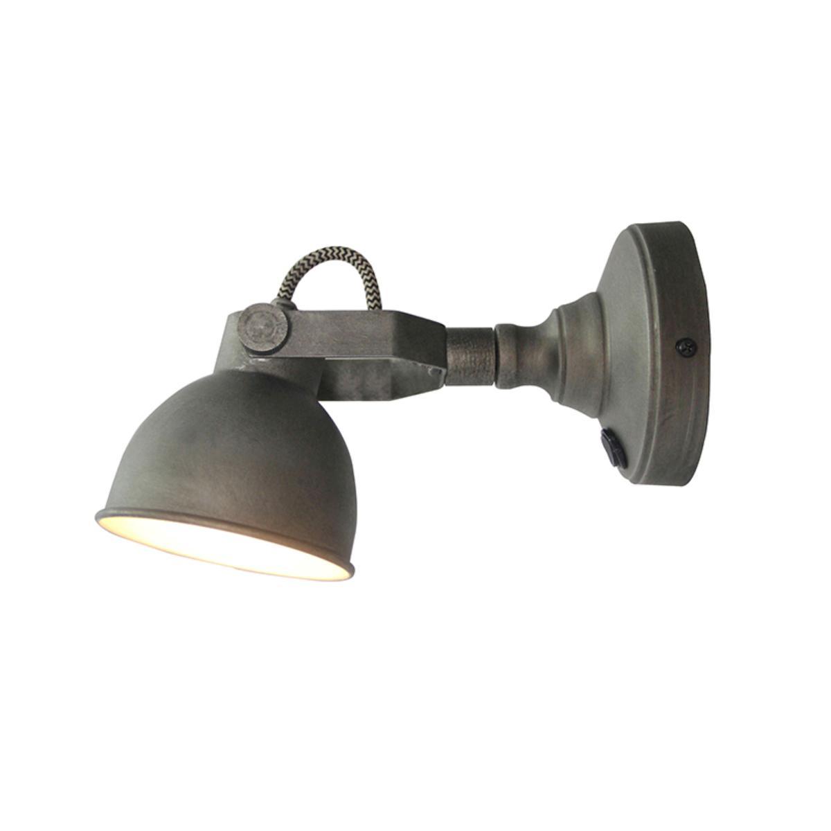Wandlamp Bow - Grijs - Metaal - M