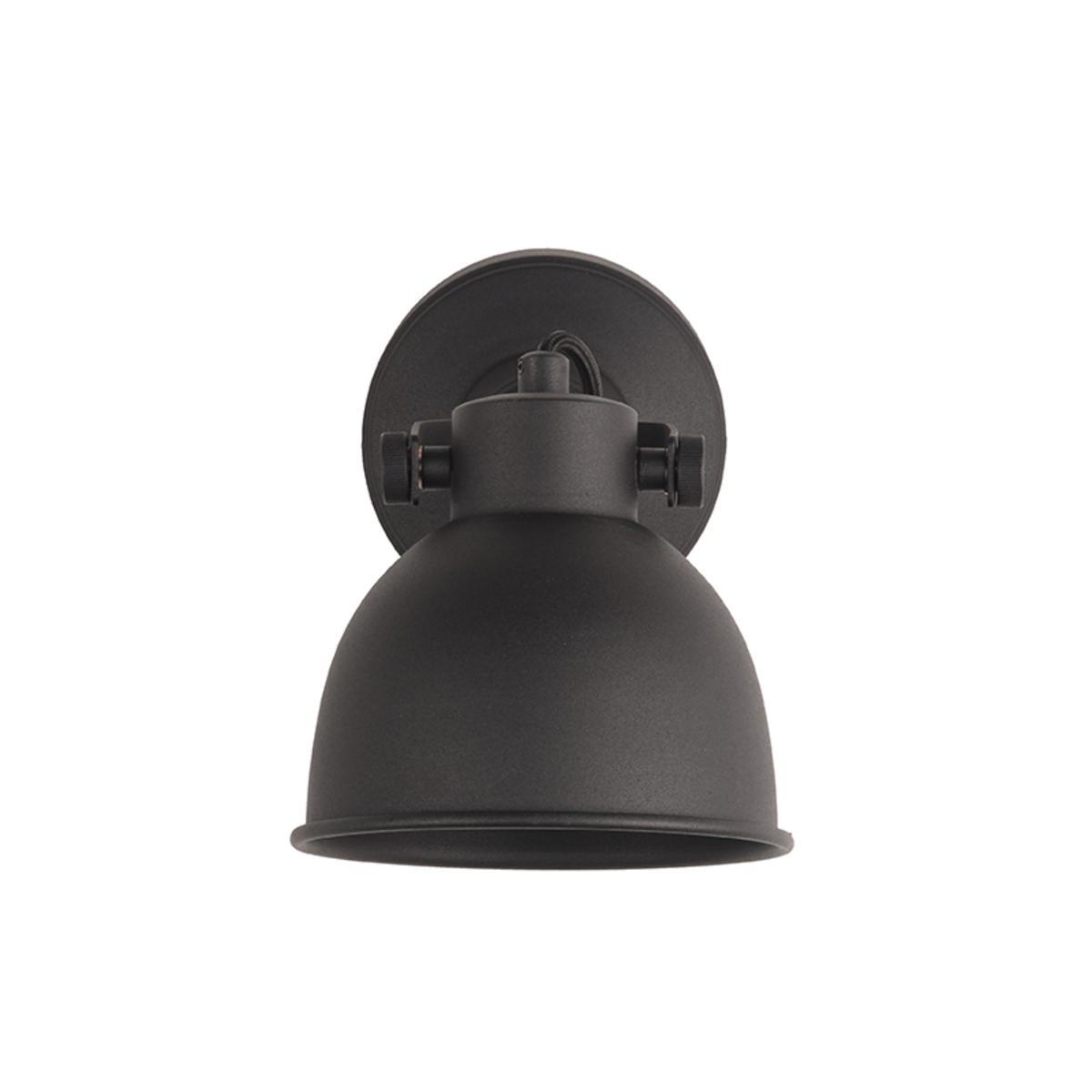 Wandlamp Bow - Zwart - Metaal - L