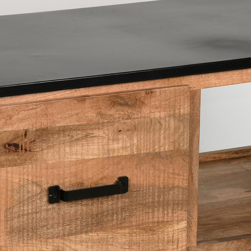Salontafel Lock - Rough - Mangohout - 110x60 cm