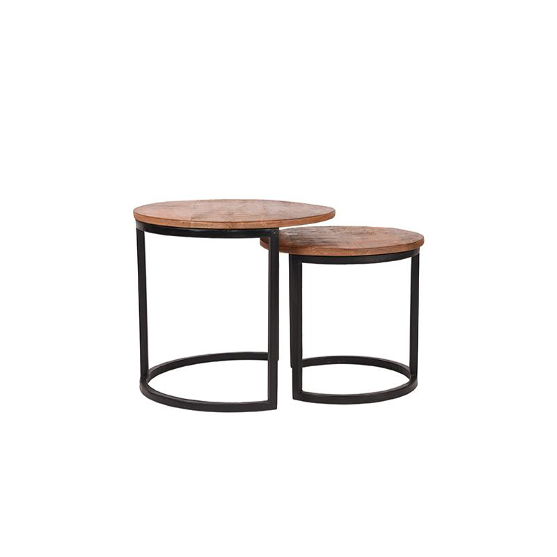 Salontafel Set Duo - Rough - Hout