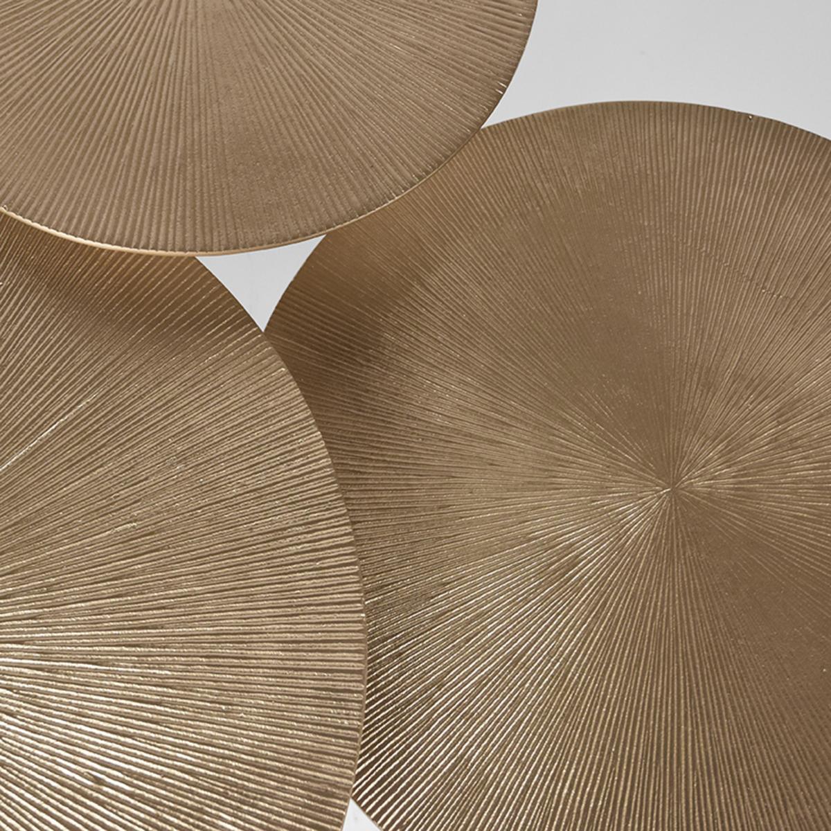 Salontafel Set Nobby - Goud - Metaal - 60 cm