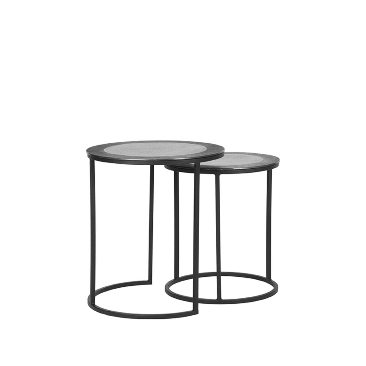 Salontafel Set Pair - Grijs - Metaal - 40 cm