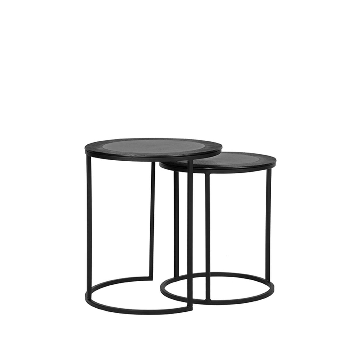 Salontafel Set Pair - Zwart - Metaal - 40 cm