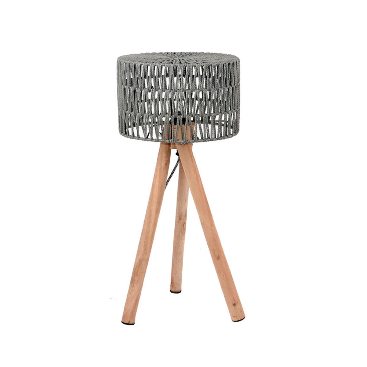 Tafellamp Stripe - Grijs - Katoen