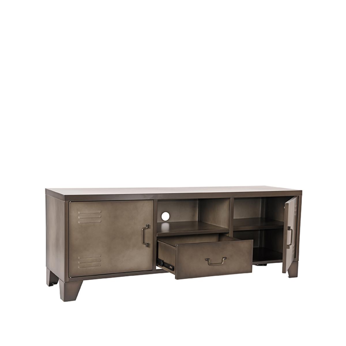 Tv-meubel Fence - Grijs - Metaal