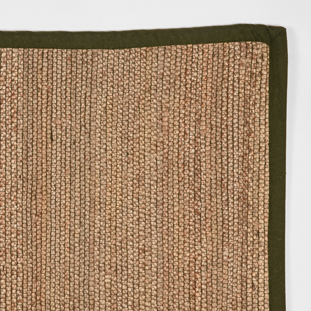 Vloerkleed Jute - Army green - Jute - 160x230 Cm