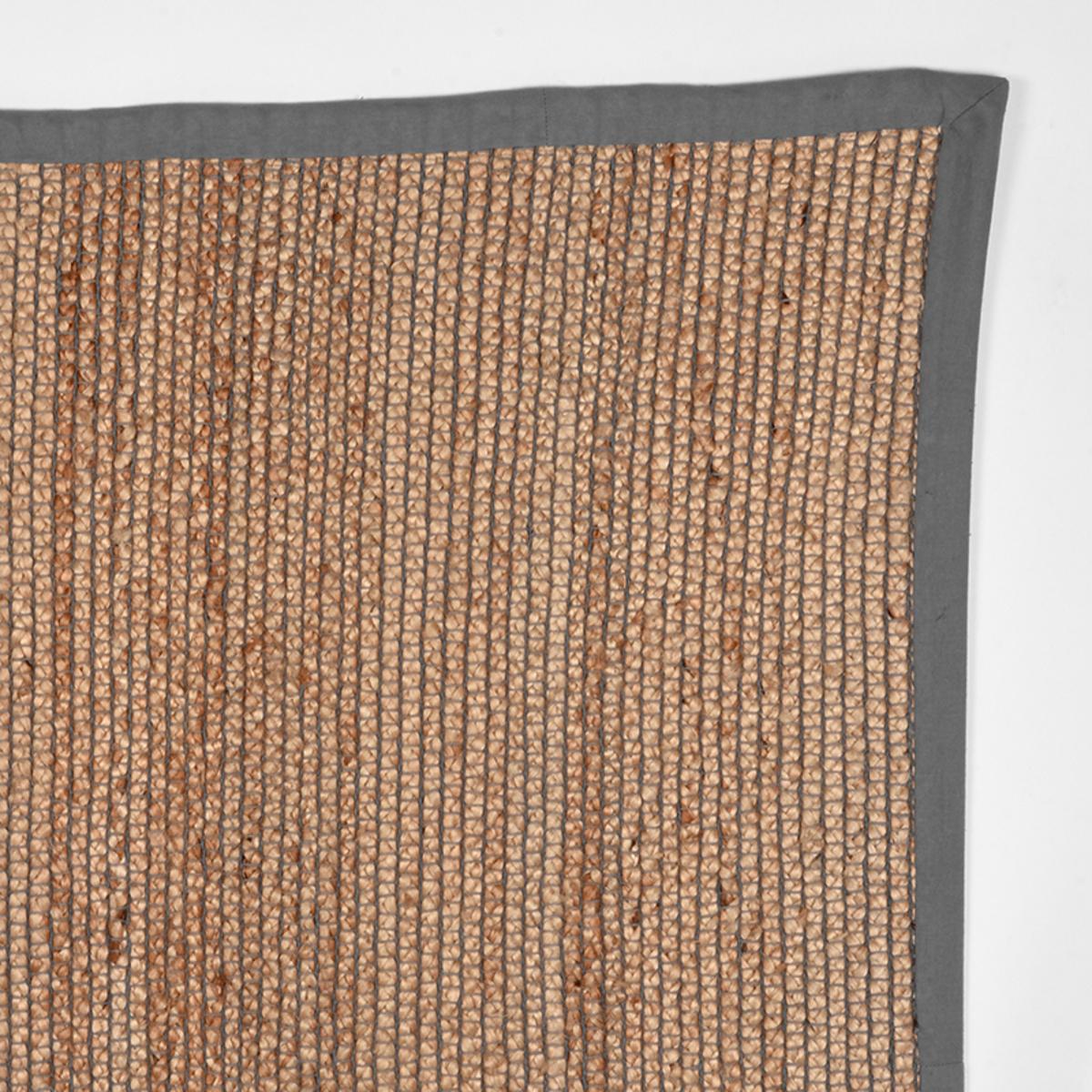 Vloerkleed Jute - Grijs - Jute - 140x160 Cm