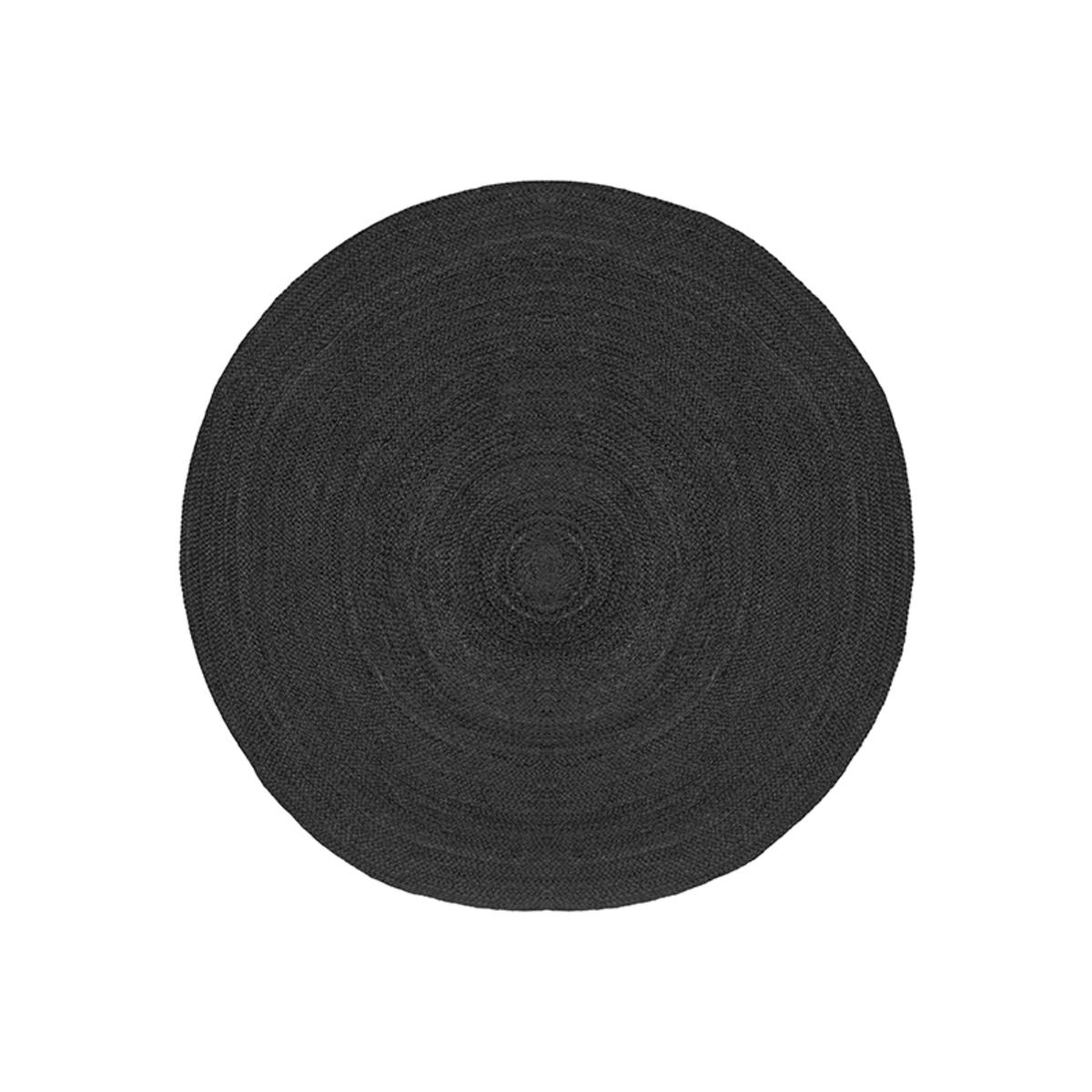 Vloerkleed Jute - Zwart - Jute - 120 cm