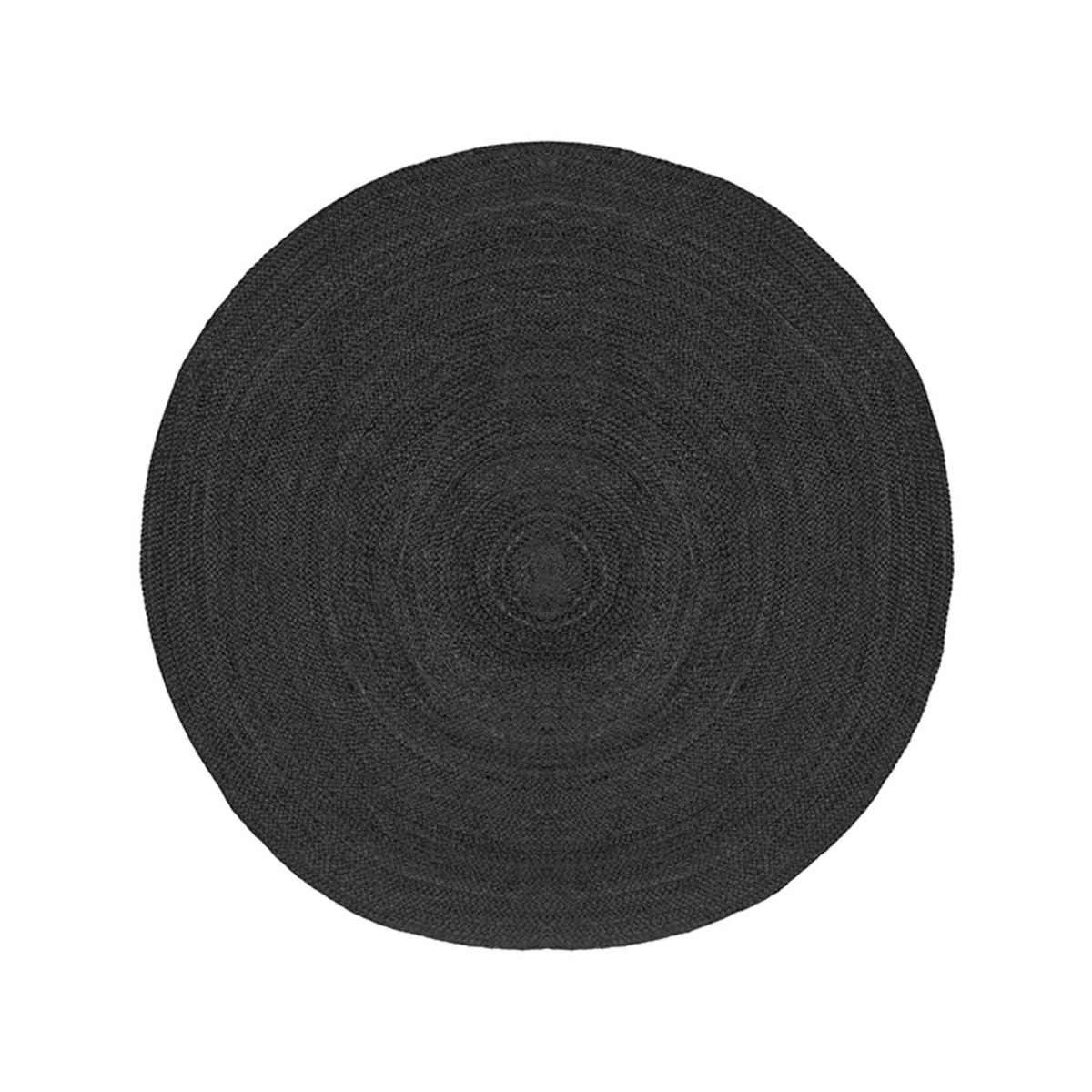 Vloerkleed Jute - Zwart - Jute - 150