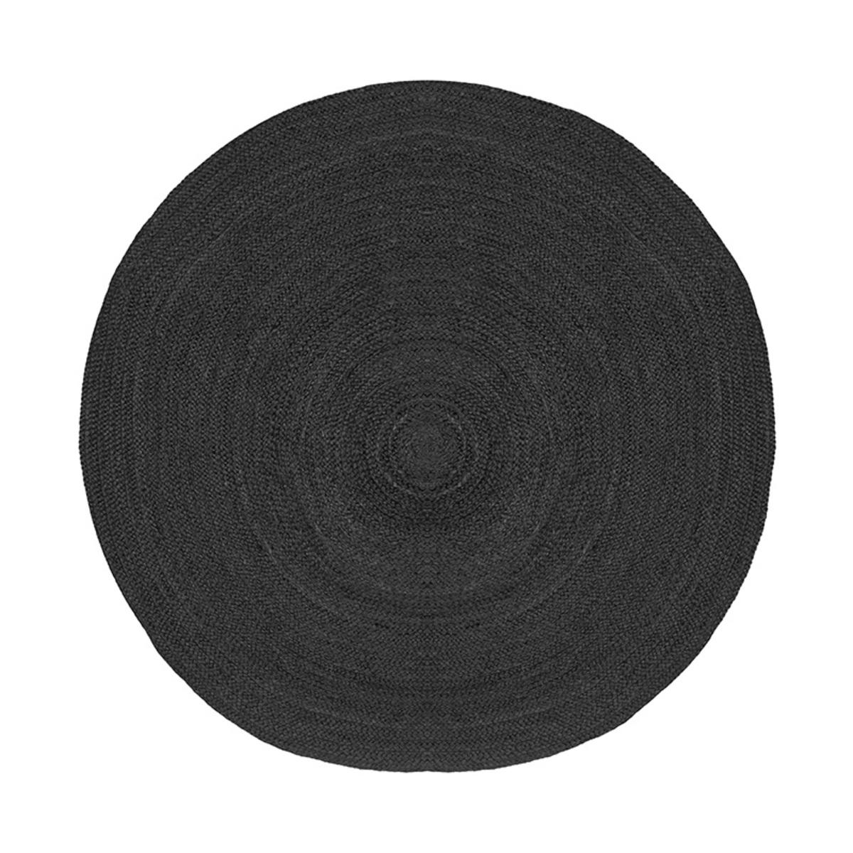 Vloerkleed Jute - Zwart - Jute - 180