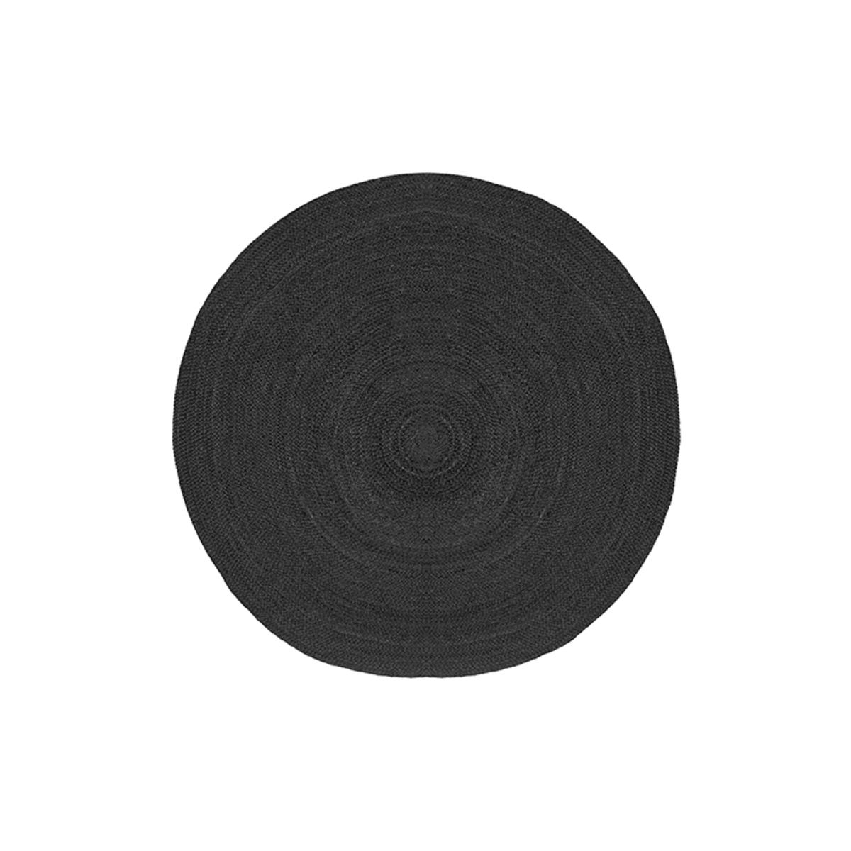 Vloerkleed Jute - Zwart - Jute - 90 cm
