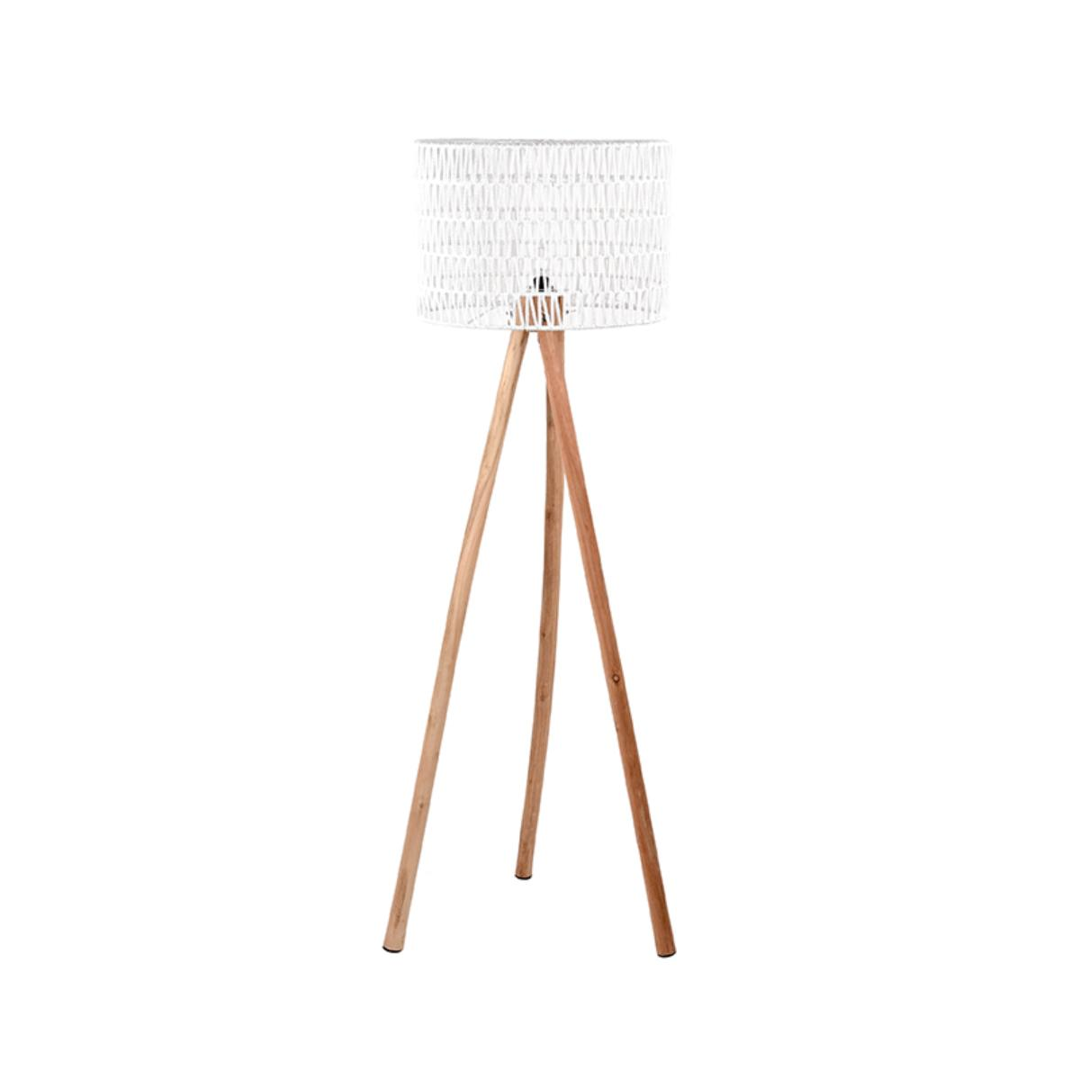 Vloerlamp Stripe - Wit - Mangohout
