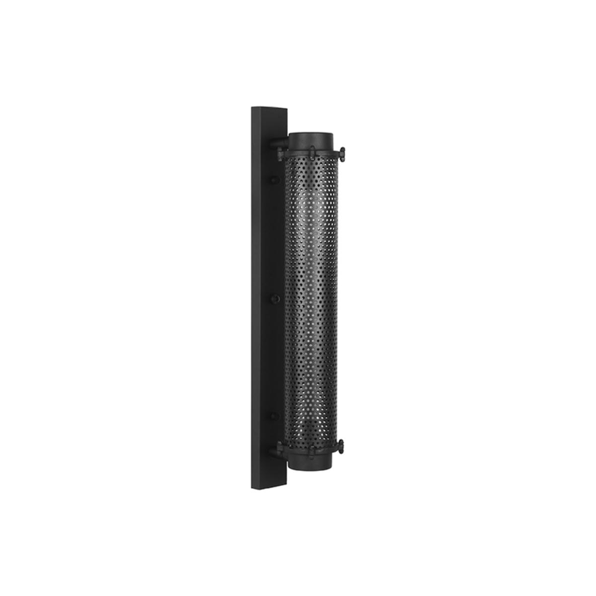 Wandlamp Tube - Zwart - Metaal