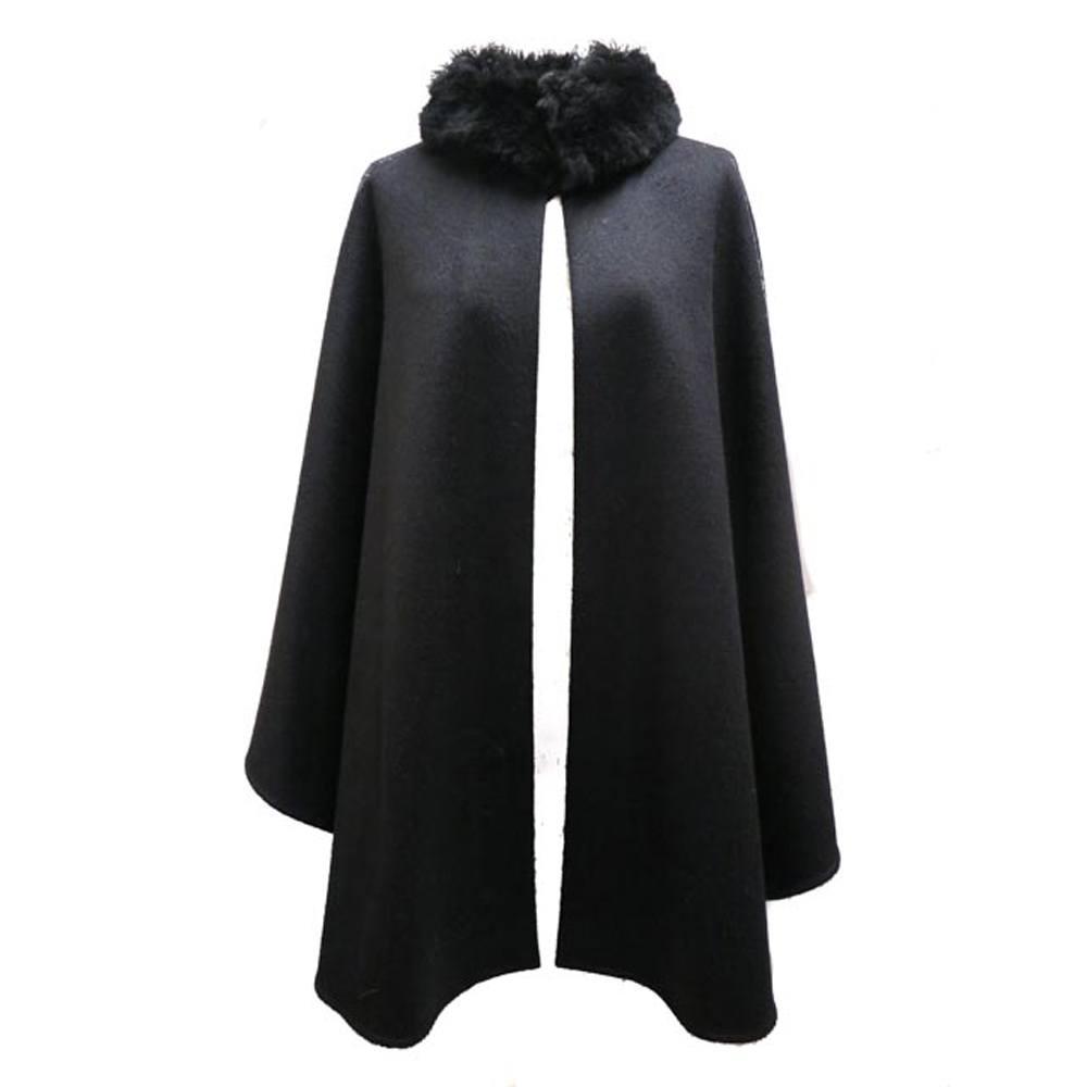 Alpaca cape zwart