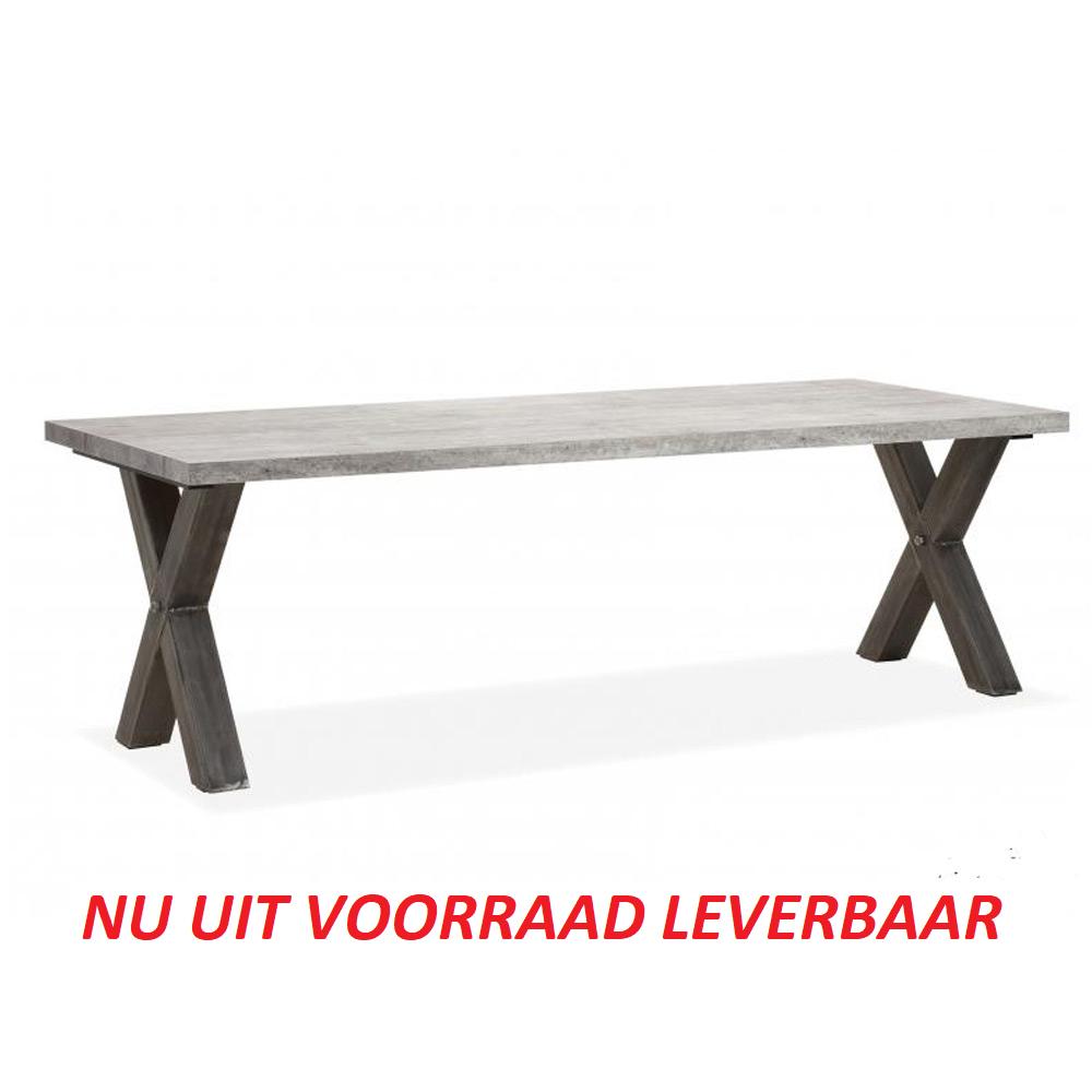 Amersfoort eettafel 220x100cm (X-poot)