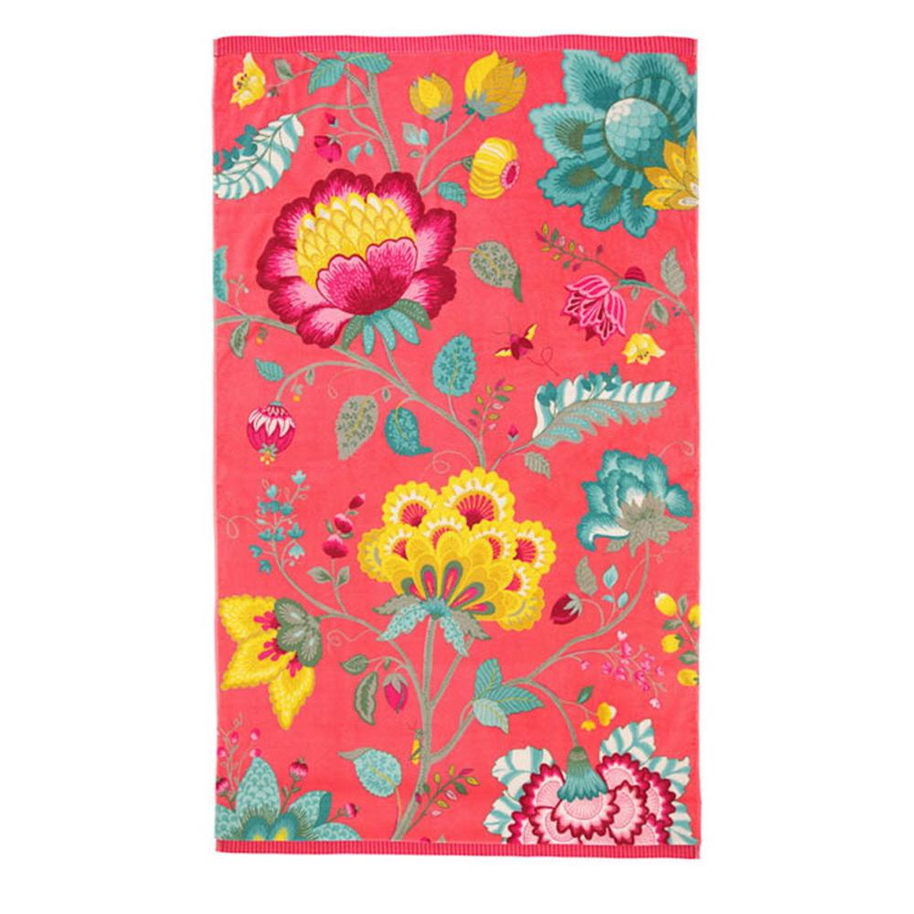 Badhanddoek Floral Fantasy cayenne