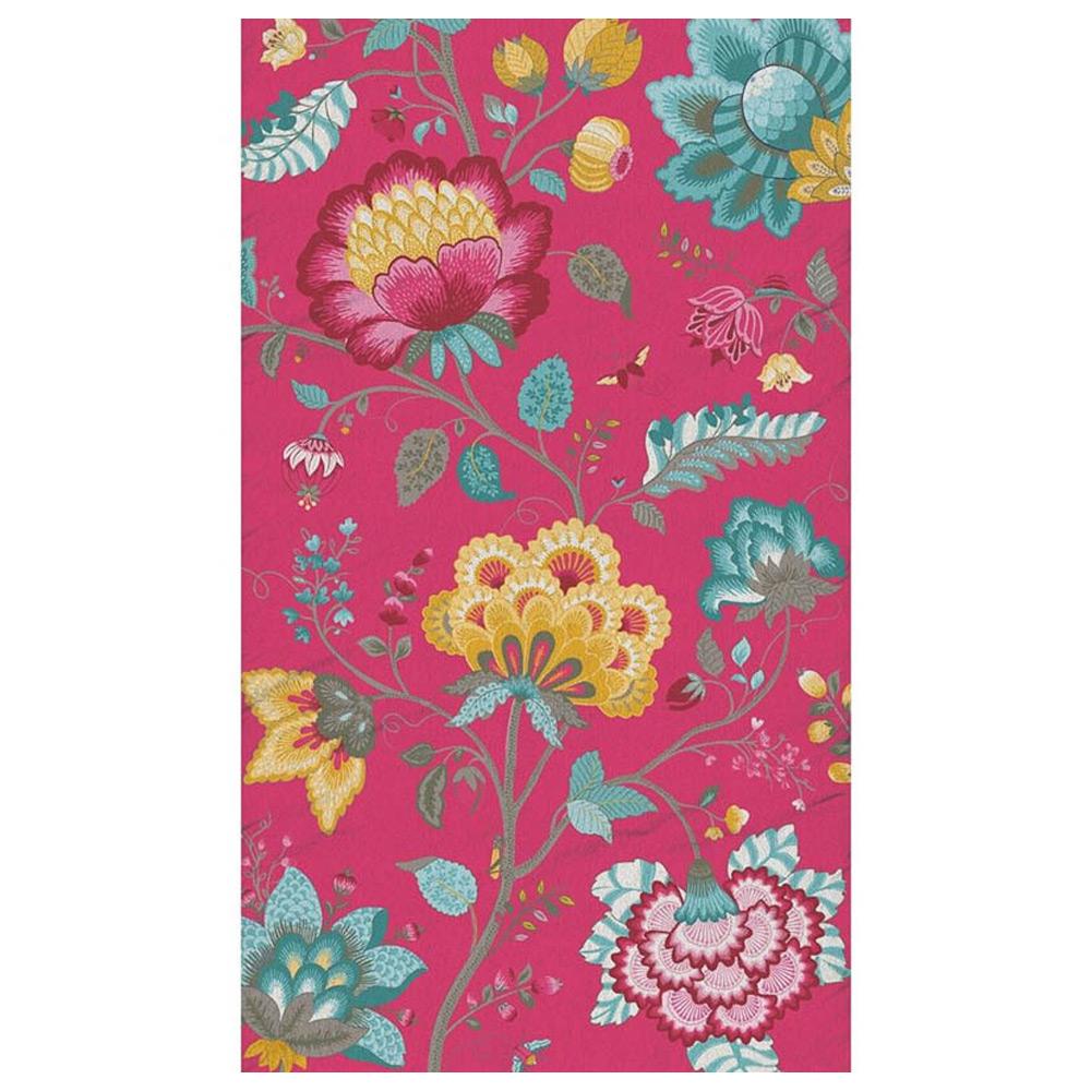 Badhanddoek Floral Fantasy dark pink