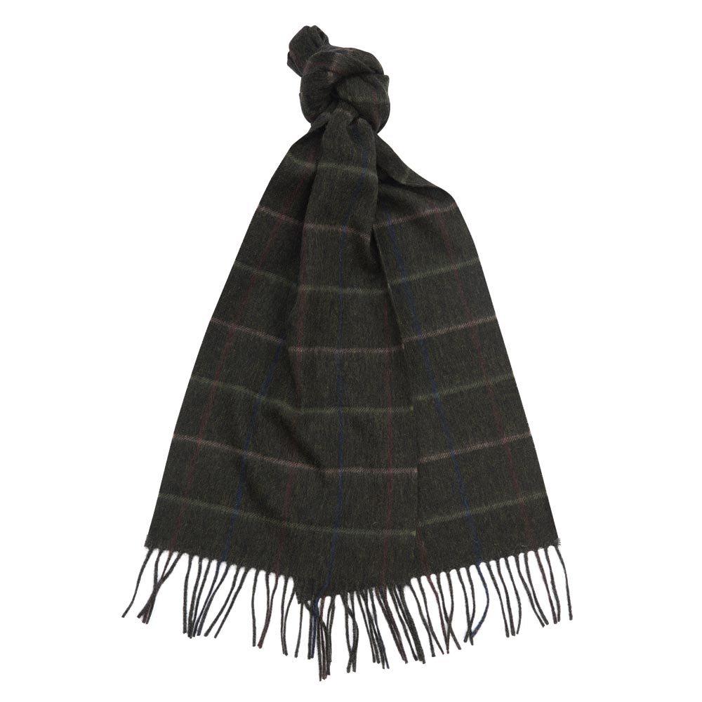 Barbour Tattersall Lambswool Scarf tobacco