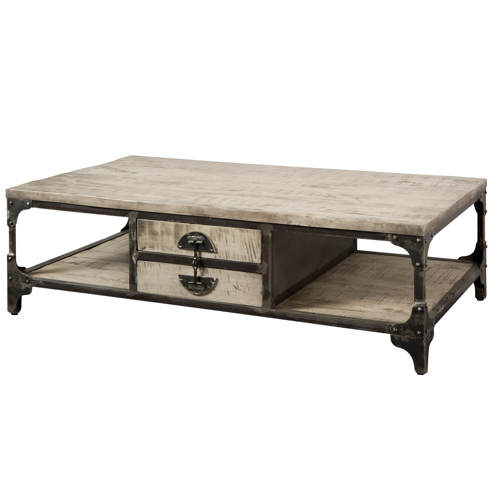 Basto Salontafel met 4 laden Grey