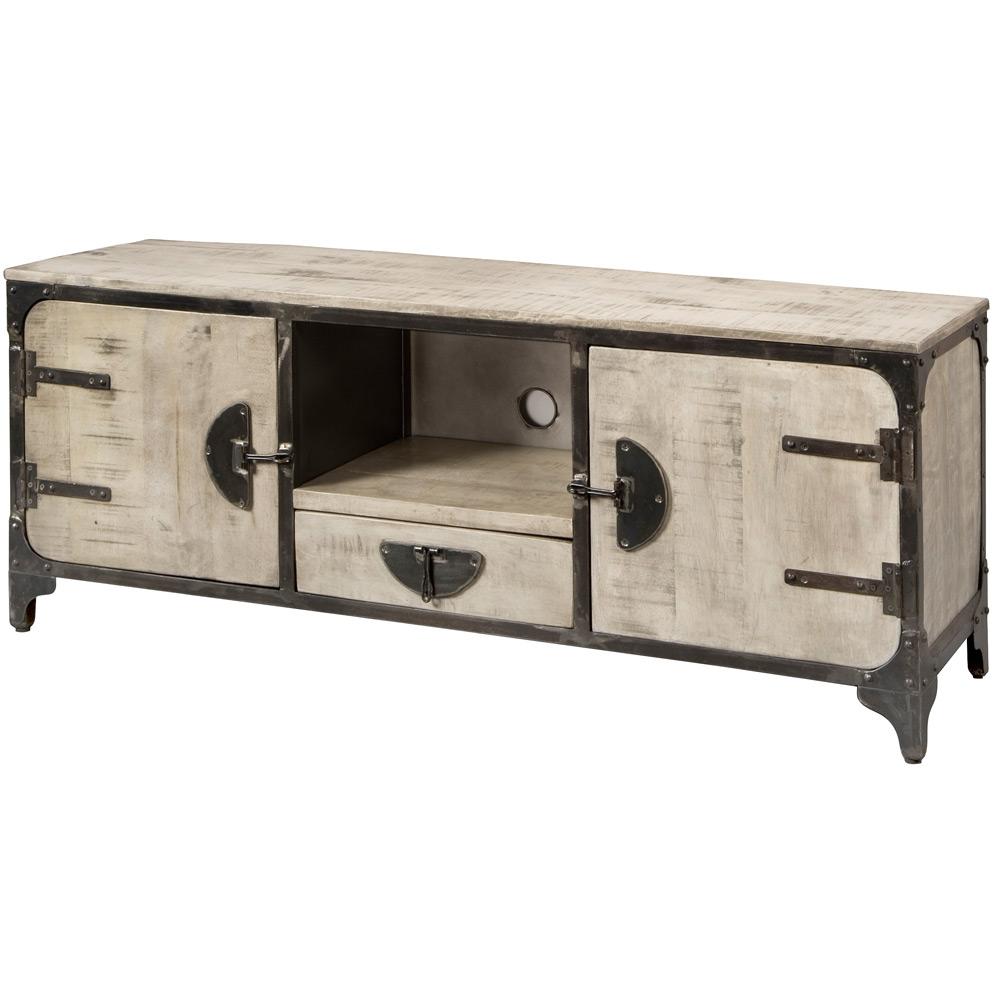Basto TV-dressoir 2 deuren en 1 lade Grey