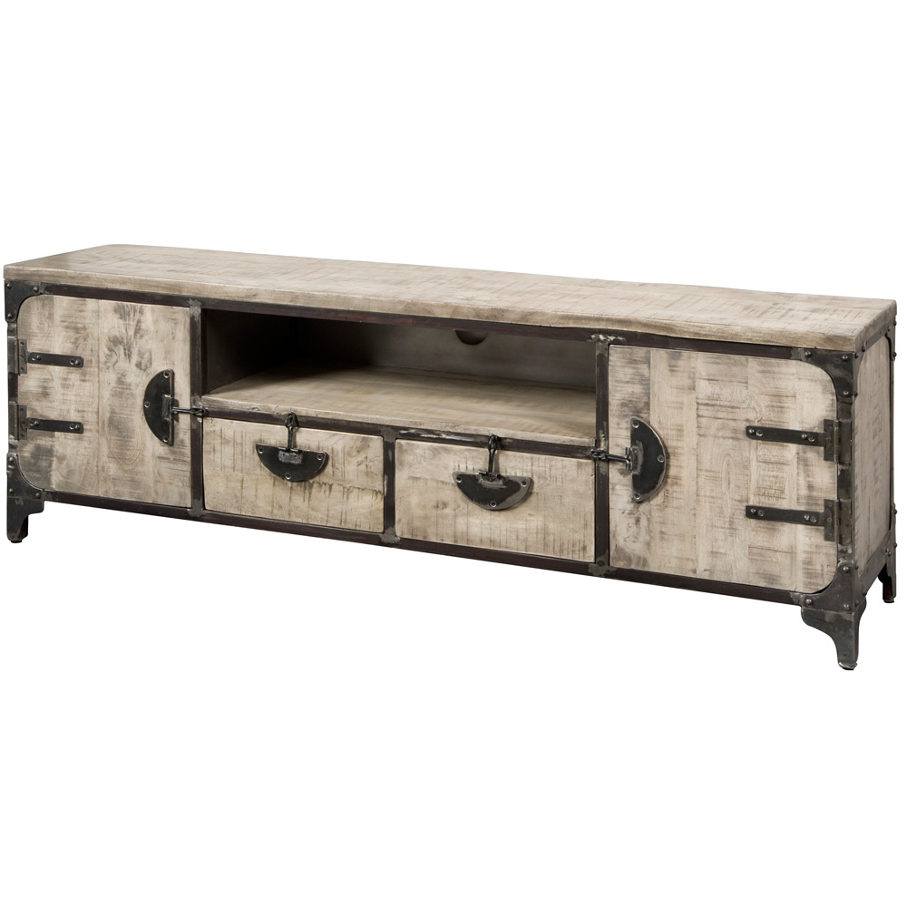 Basto TV-dressoir 2 deuren en 2 laden Grey
