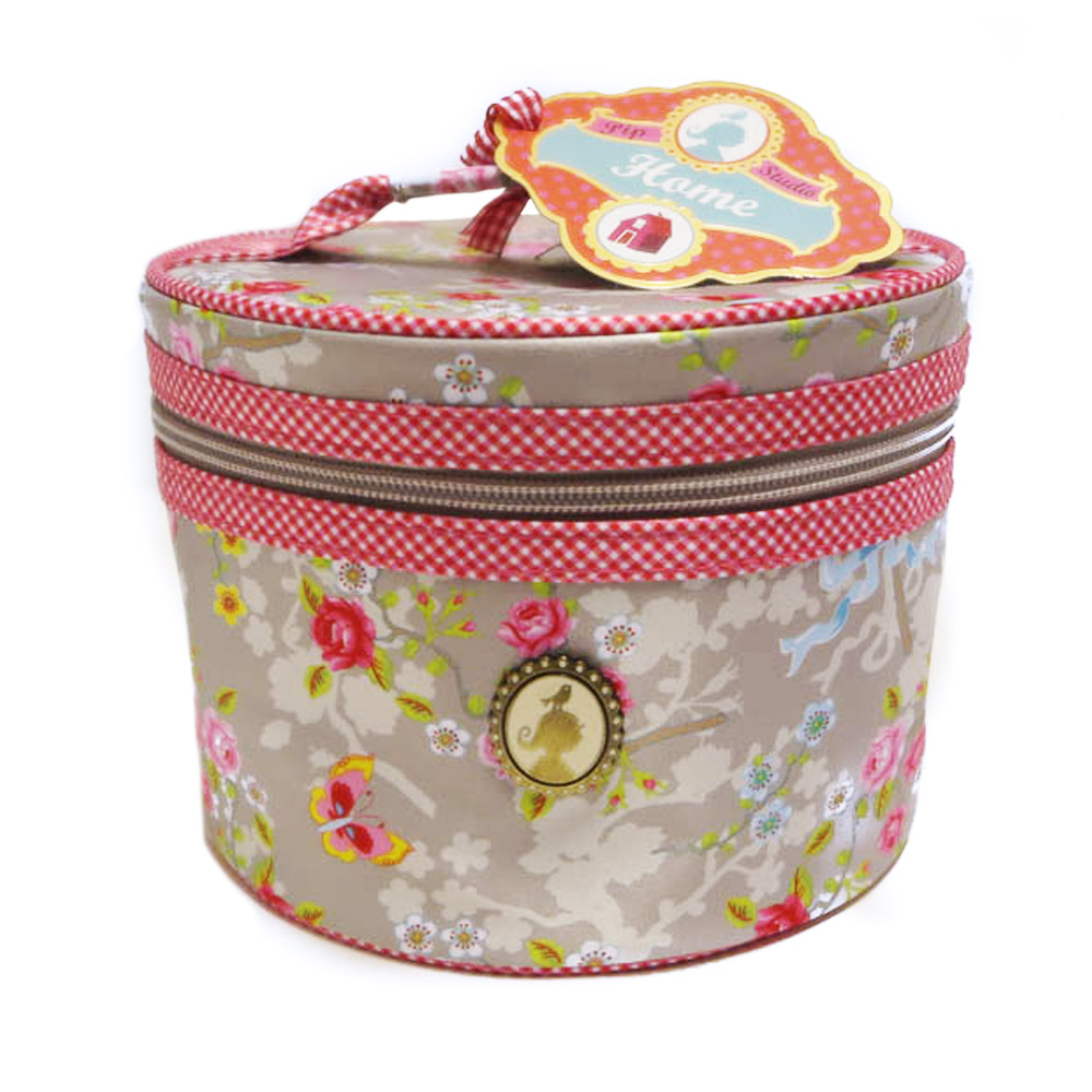 Beautycase M Round Chinese Rose Khaki