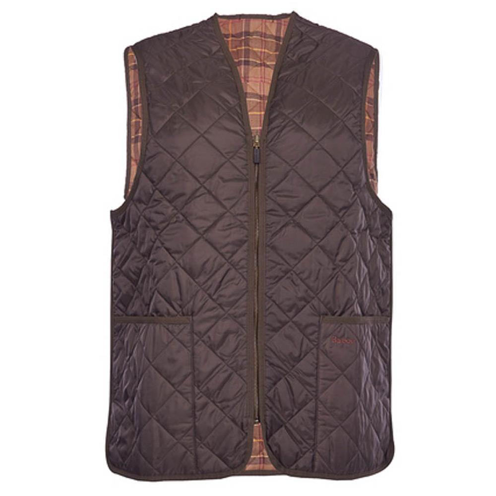 Binnenvoering Quilted Waistcoat brown