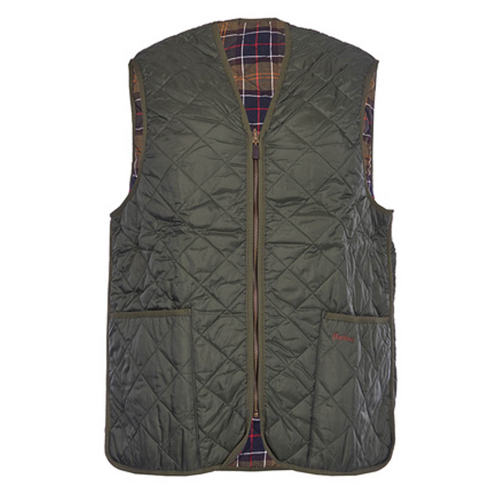Binnenvoering Quilted Waistcoat olive