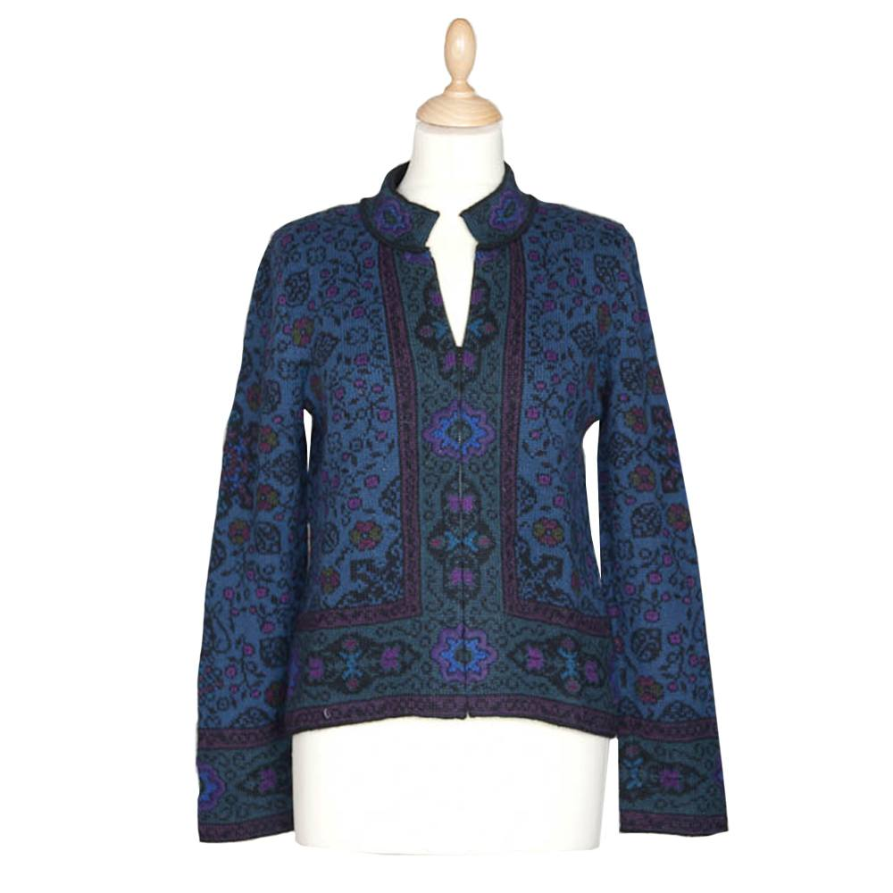 Bohema Short Cardigan Blue