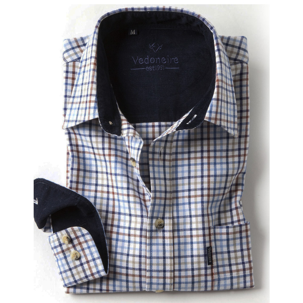 Brushed Cotton plaid herenshirt barrow