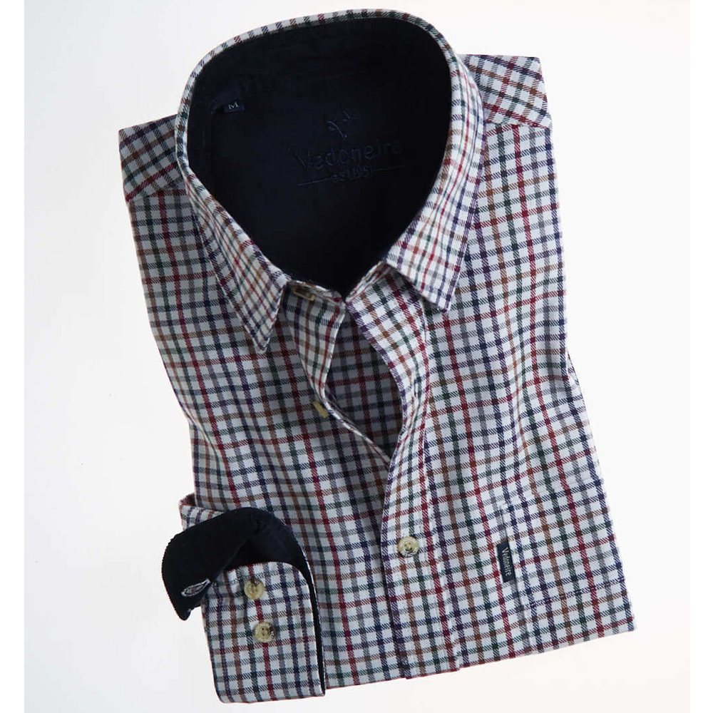 Brushed Cotton plaid herenshirt Grafton