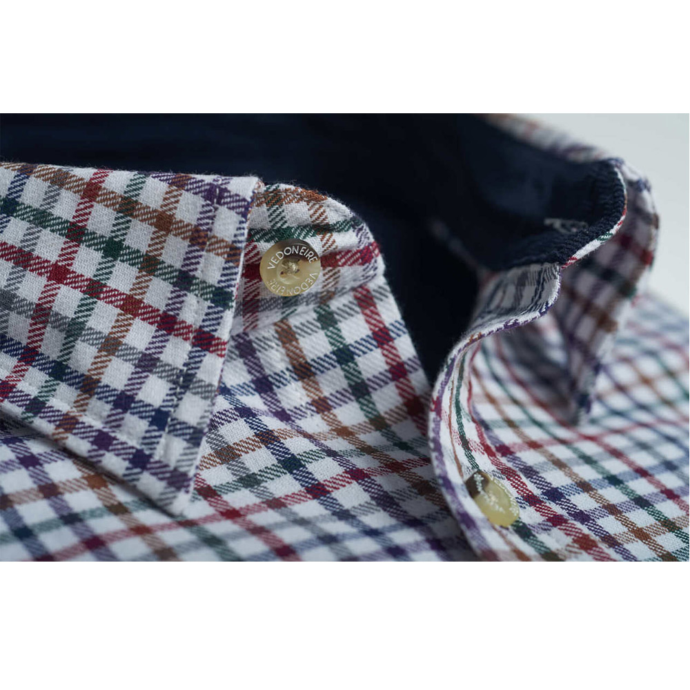 Brushed Cotton plaid shirt Grafton