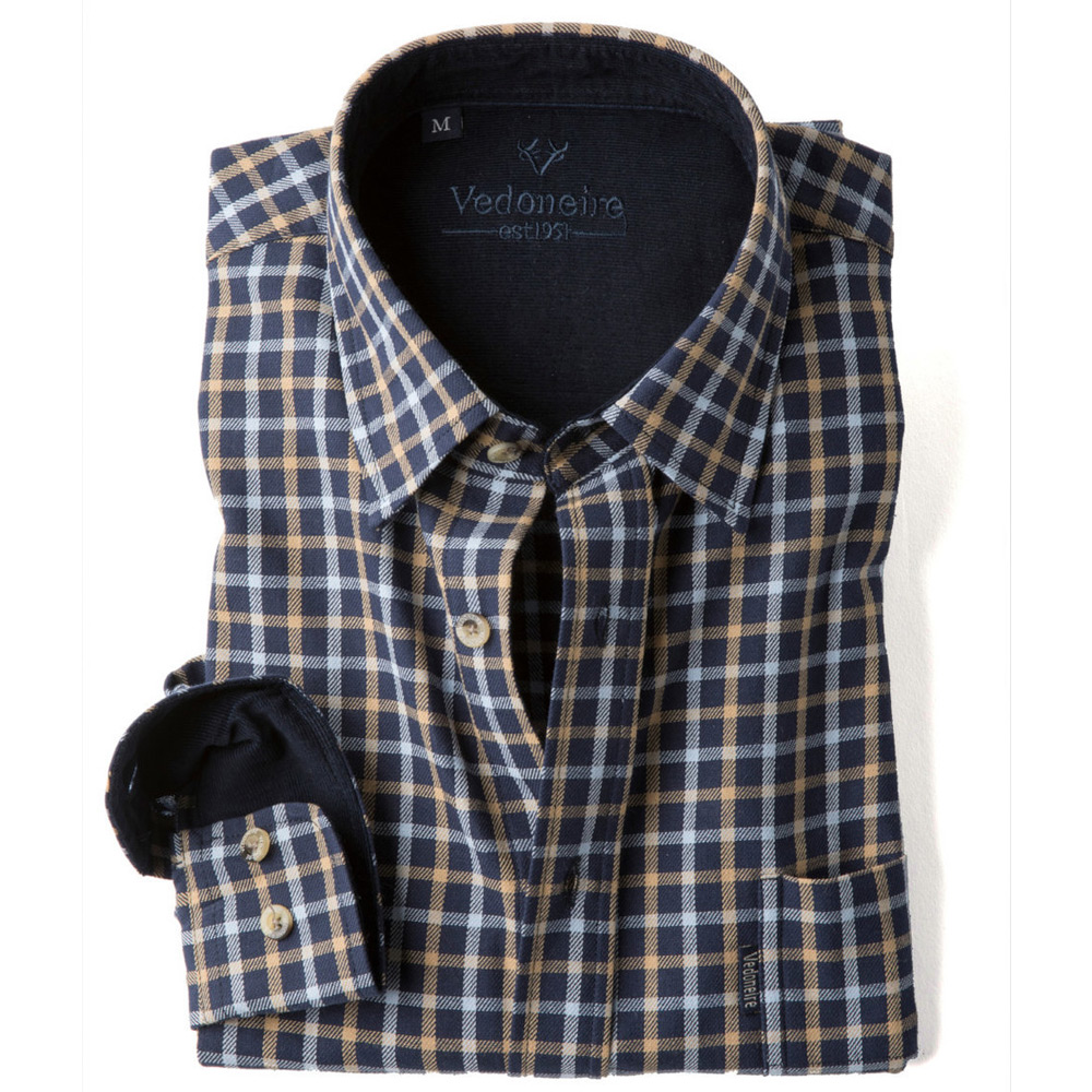 Brushed Cotton plaid herenshirt kyle