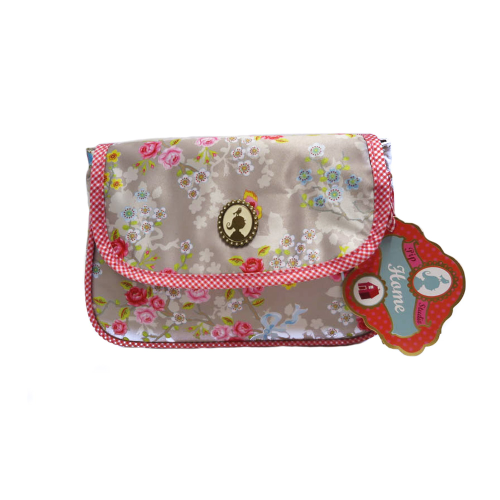 Cosmeticbag +flap S Chinese Rose - Khaki