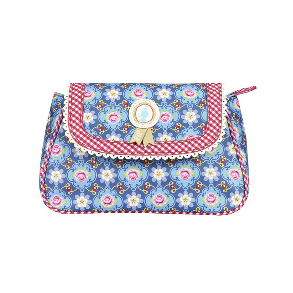 Cosmeticbag+flap S Demin