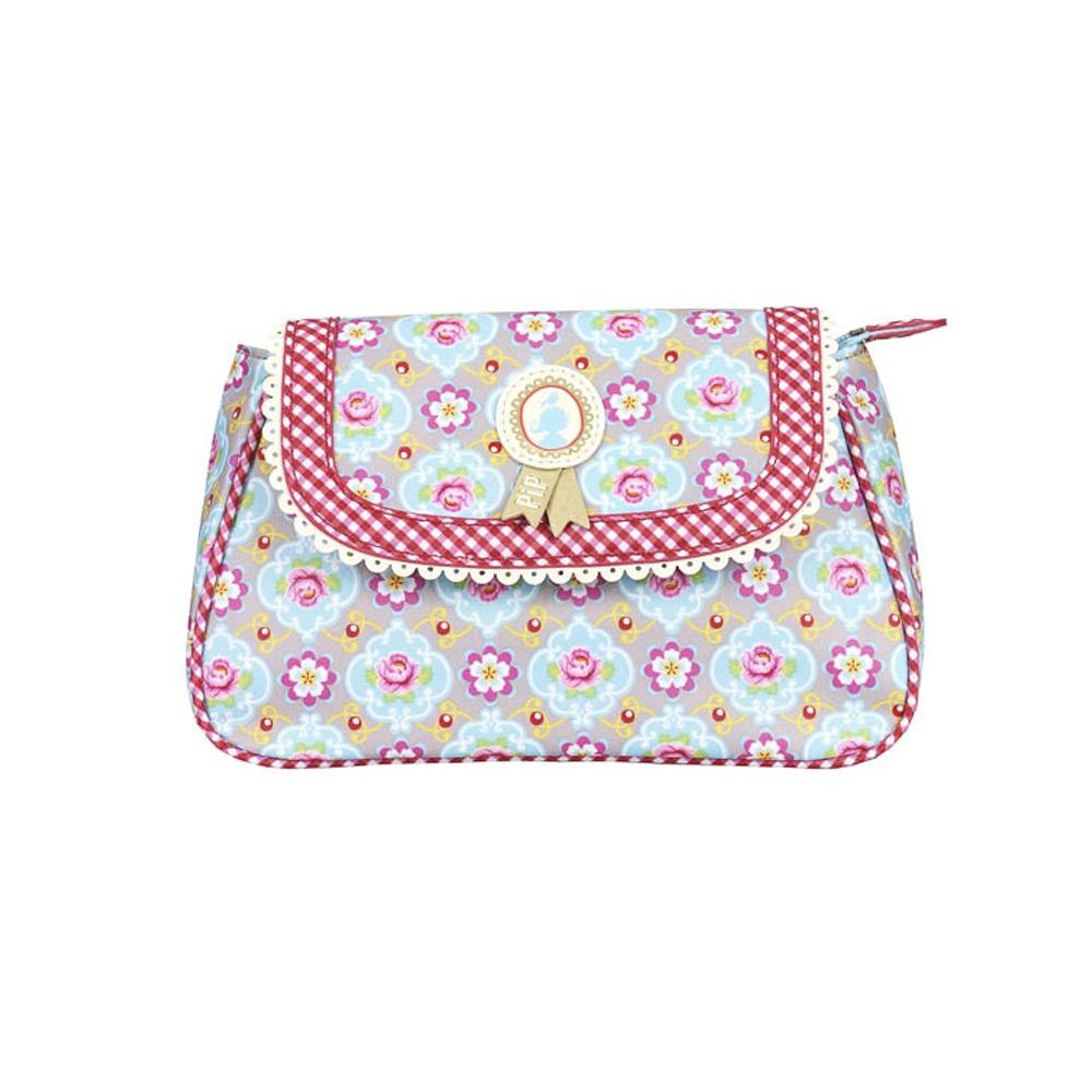 Cosmeticbag+flap S Khaki