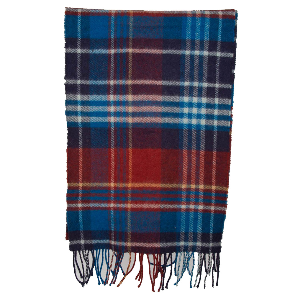 Sjaal Country check lambswool rustic/navy