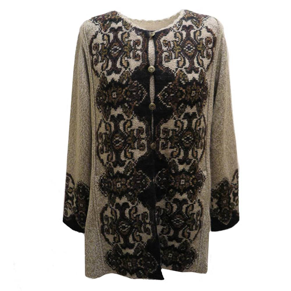 Damask coat (half) lang Cardigan 4053A