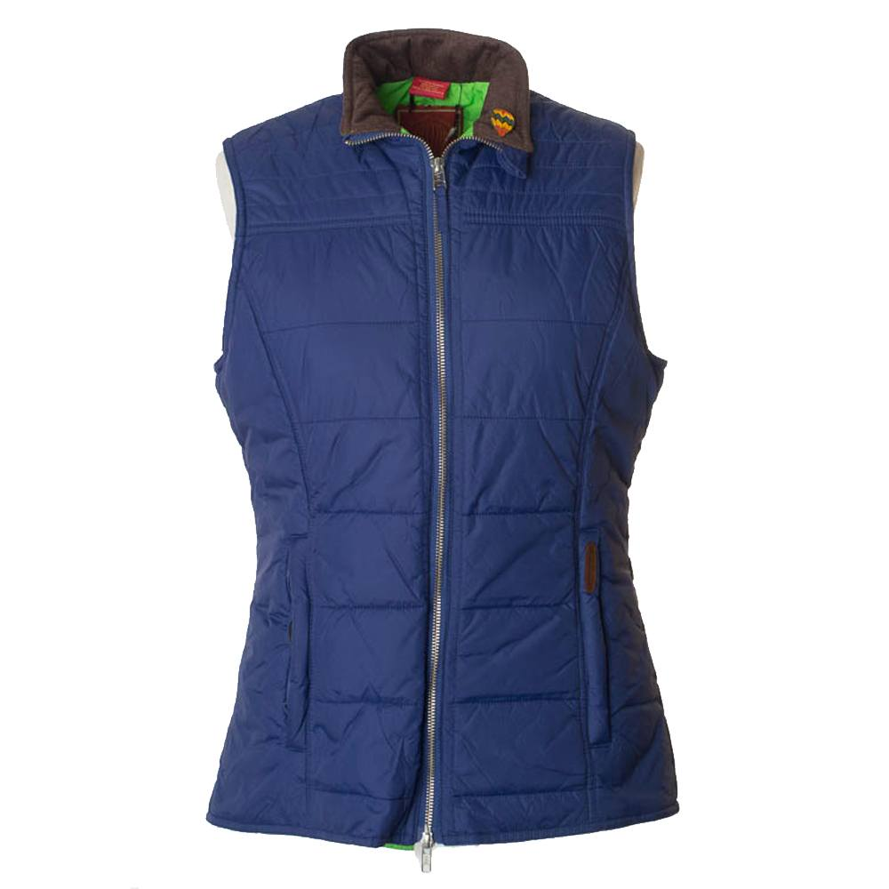 Dames Bodywarmer Quilt Gilet Blauw