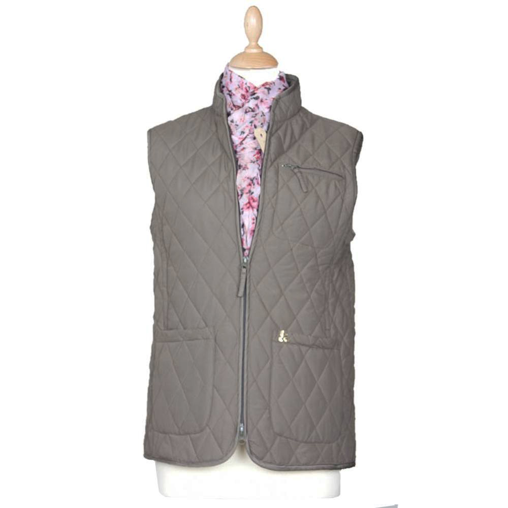 Dames Lichfield Slim quilted gilet olive