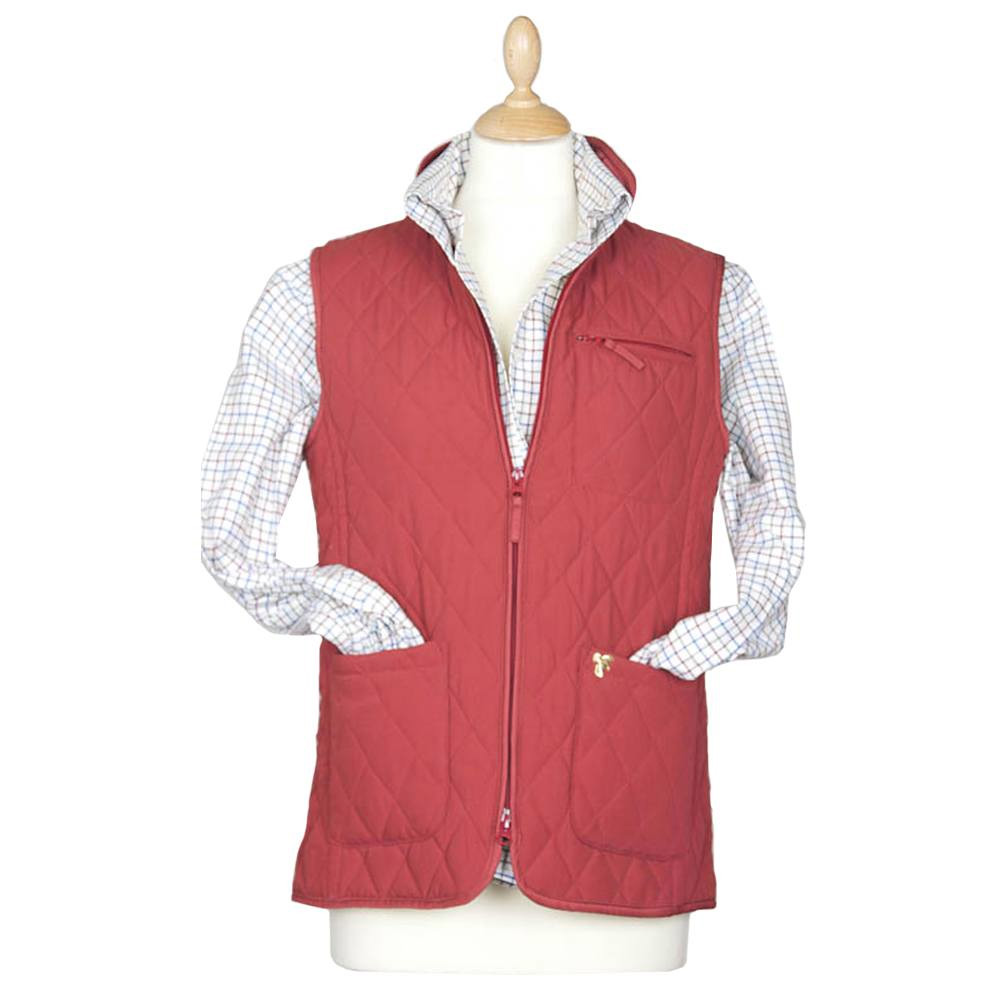 Dames Lichfield Slim quilted gilet red
