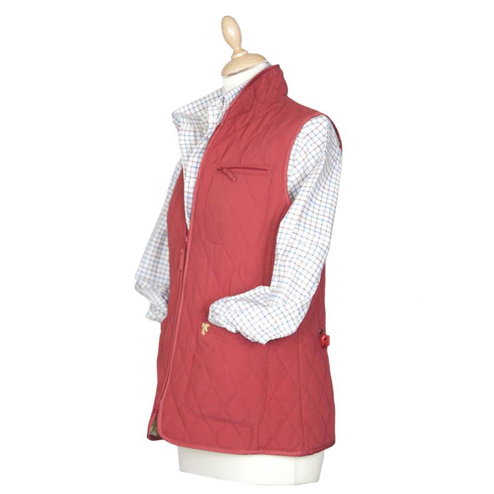 Dames Lichfield Slim quilted gilet red