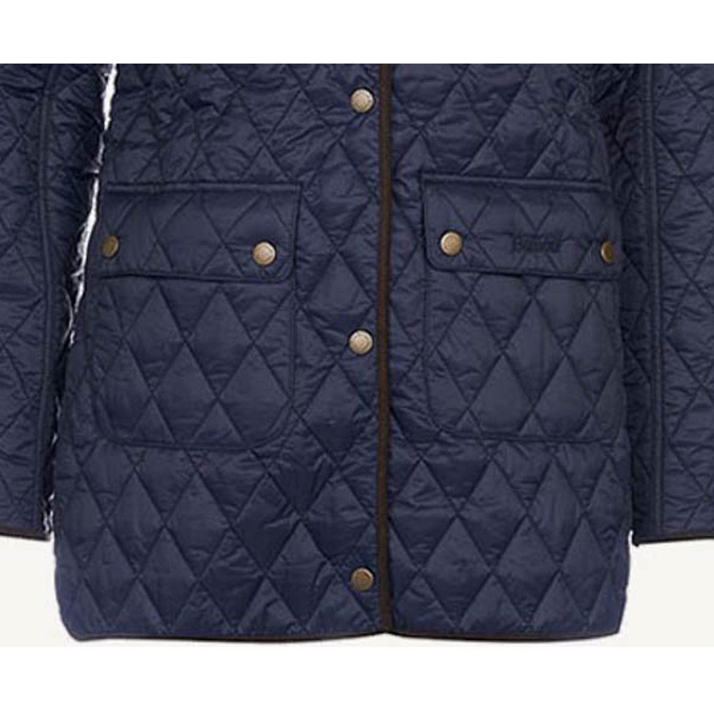 Dames Quilt Gladioulus Navy