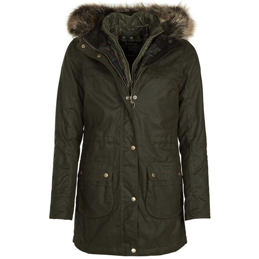Dames waxjas Dartford Olive